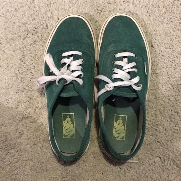 263f69751732 Dark green felt lace up vans. M 5a5647c505f43004cc00d6a8